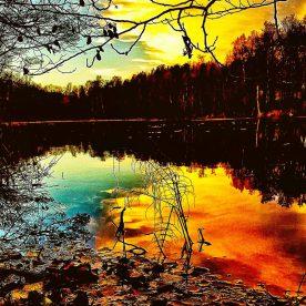 Solnedgång över sjön Kranglan i Saltsö-Duvnäs.