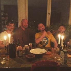 Middag med Robert, Dennis och Musse.